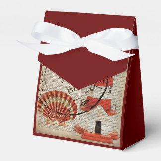 cáscaras elegantes lamentables del mar del faro cajas para detalles de boda