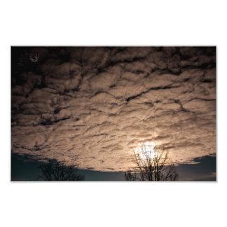Cáscaras en el cielo - paisaje de la nube - papel  cojinete