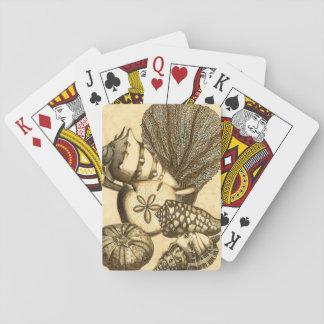 Cáscaras neutrales y colección coralina barajas de cartas