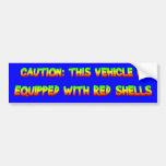 cáscaras rojas etiqueta de parachoque