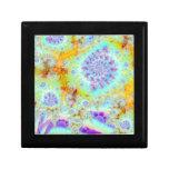 Cáscaras violetas de oro del mar, océano abstracto caja de regalo
