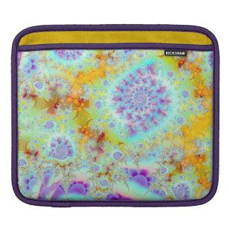 Cáscaras violetas de oro del mar océano abstracto fundas para iPads
