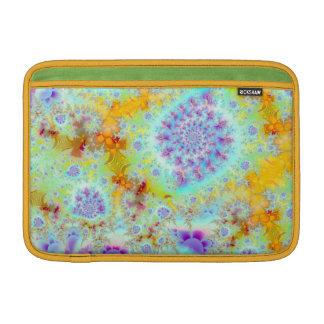 Cáscaras violetas de oro del mar océano abstracto funda macbook air