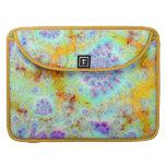 Cáscaras violetas de oro del mar, océano abstracto fundas macbook pro
