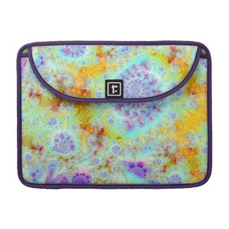 Cáscaras violetas de oro del mar océano abstracto fundas macbook pro