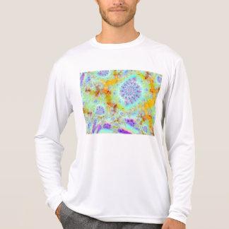 Cáscaras violetas de oro del mar, océano abstracto camiseta