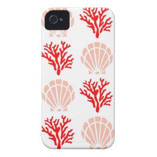 Cáscaras y coral del mar iPhone 4 Case-Mate carcasa