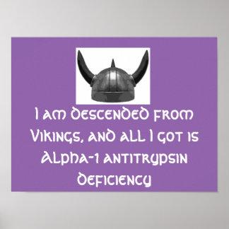 Casco Alpha-1 de Viking del poster Póster