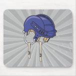 casco azul de la bici alfombrilla de ratones