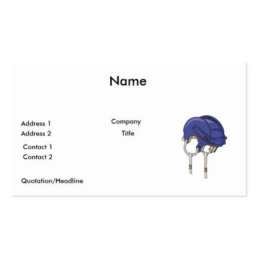 casco azul de la bici plantilla de tarjeta de negocio