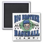Casco azul del béisbol de hermano mayor imán de frigorífico