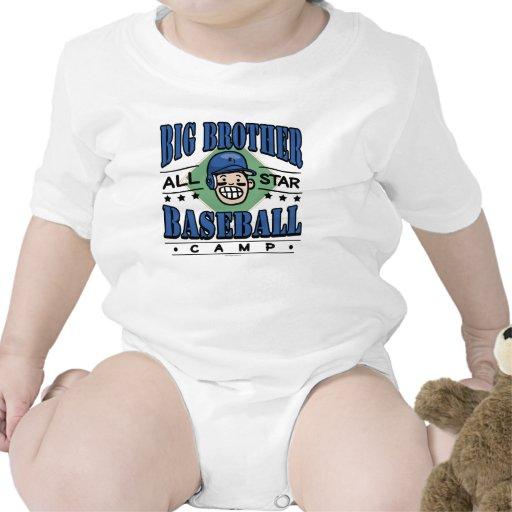 Casco azul del béisbol de hermano mayor traje de bebé
