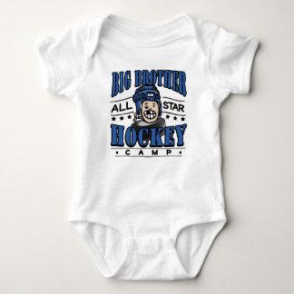 Casco azul del campo del hockey de hermano mayor body para bebé