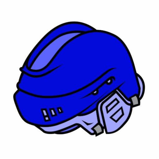 Casco azul del hockey escultura fotografica