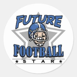 Casco azul futuro de la estrella de fútbol pegatinas