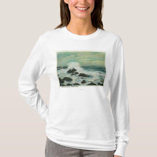 Casco Bay, MaineSurf and Beach Rocks T-Shirt