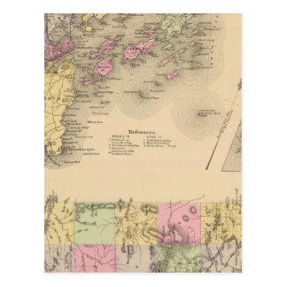 Casco Bay Map Postcard