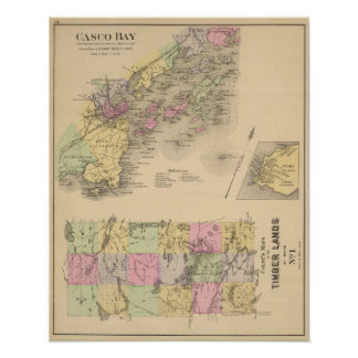 Casco Bay Map Poster