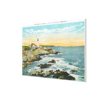 Casco Bay View of the Portland Head Lighthouse Canvas Print