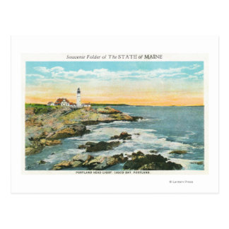 Casco Bay View of the Portland Head Lighthouse Postcard