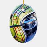 Casco clásico de la motocicleta ornamento para arbol de navidad
