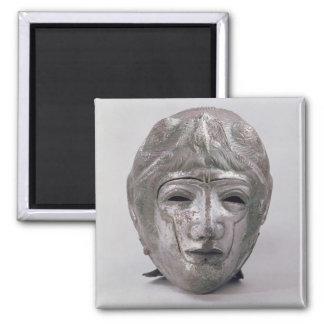 Casco con la decoración de Eagle, romana (plata) Imanes