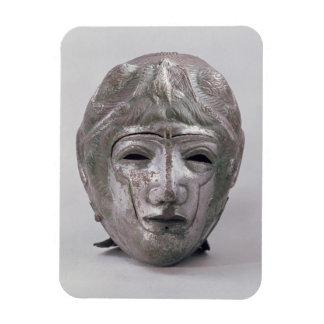 Casco con la decoración de Eagle, romana (plata) Imán Flexible