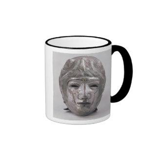 Casco con la decoración de Eagle, romana (plata) Taza De Café