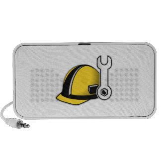 Casco con la llave iPod altavoz