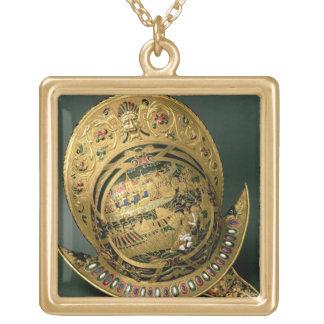 Casco de 1550-74) siglos XVI de Charles IX ((oro Colgante Cuadrado