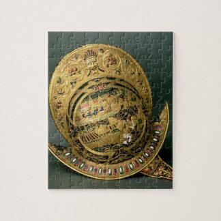 Casco de 1550-74) siglos XVI de Charles IX ((oro Puzzle