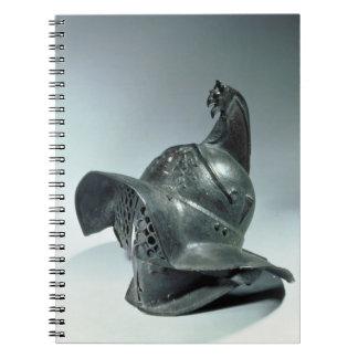 Casco de bronce del gladiador de Thracian, romano, Libretas Espirales