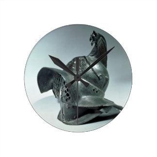 Casco de bronce del gladiador de Thracian, romano, Reloj Redondo Mediano