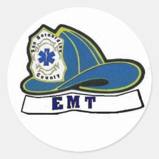 Casco de EMT Pegatina Redonda