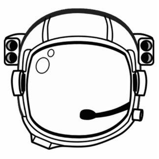 Casco de espacio del astronauta fotoescultura vertical
