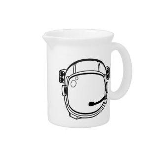 Casco de espacio del astronauta jarrón