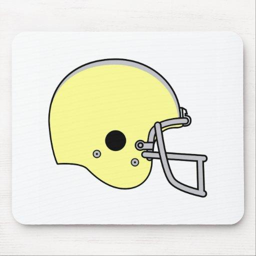 casco de fútbol americano amarillo alfombrillas de raton