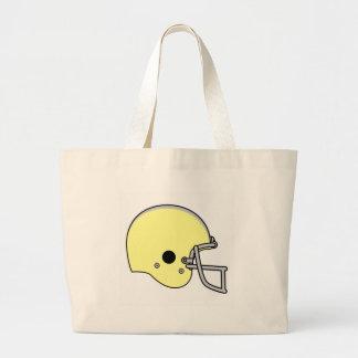 casco de fútbol americano amarillo bolsa de mano