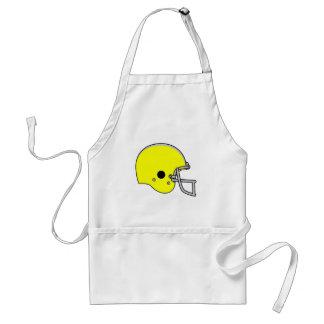casco de fútbol americano amarillo delantal