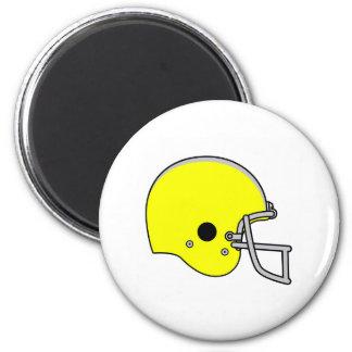 casco de fútbol americano amarillo imán redondo 5 cm