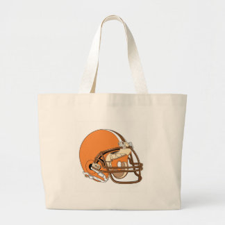 Casco de fútbol americano anaranjado bolsas de mano