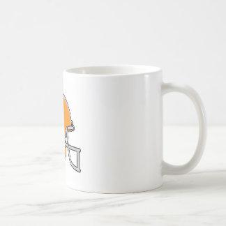Casco de fútbol americano anaranjado taza clásica
