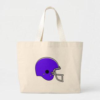 casco de fútbol americano azul bolsa