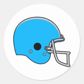 Casco de fútbol americano azul claro pegatina redonda