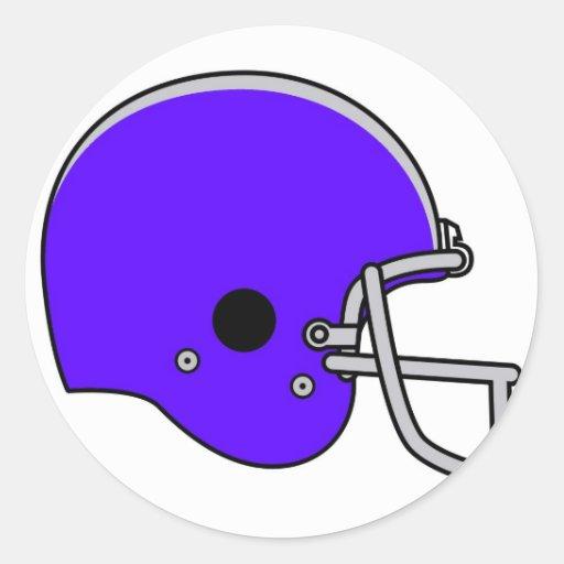 casco de fútbol americano azul etiqueta