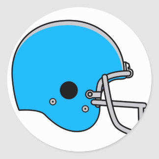 casco de fútbol americano azul pegatina