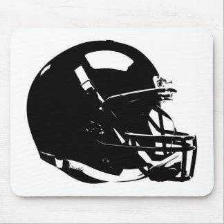 Casco de fútbol americano blanco negro del arte mousepad