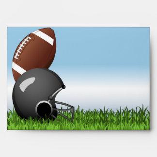 Casco de fútbol americano/bola sobres