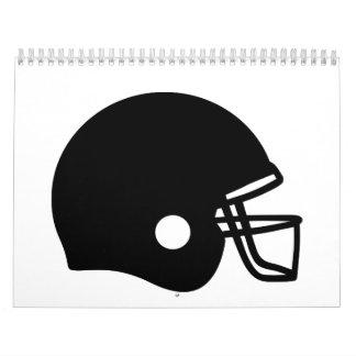 Casco de fútbol americano calendario de pared