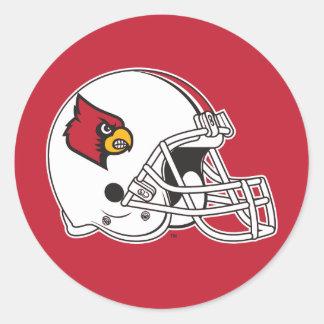 Casco de fútbol americano de Louisville Pegatina Redonda